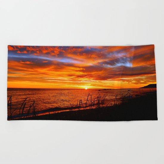 Spectacular Sunrise on the Saint-Lawrence Beach Towel