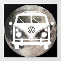 volkswagon Canvas Prints featuring Moon Wagon by Isaak_Rodriguez