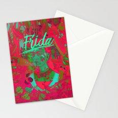 Frida Kahlo neon IV Stationery Cards
