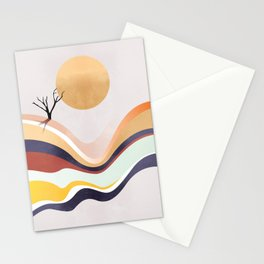 The Flowing Pale Desert Stationery Cards