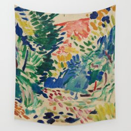 Landscape at Collioure - Henri Matisse - Exhibition Poster Wall Tapestry
