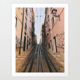 Lisbon Bica Funicular, Lisbon, Portugal Art Print