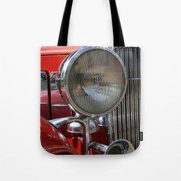 Vintage Car Headlight & Horn Tote Bag