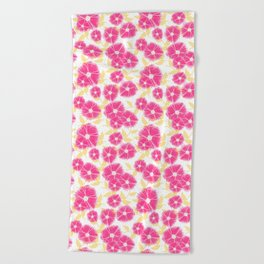12 Sketched Mini Flowers Beach Towel