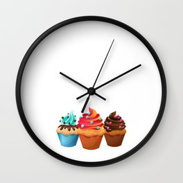 Cupcake Whisperer Bakery Chef Pastry Funny T-Shirt Wall Clock