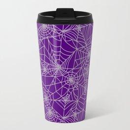 Purple Cobwebs Travel Mug