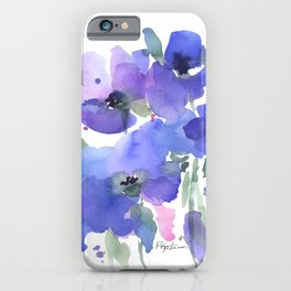 Blue Poppies and Wildflowers iPhone Case