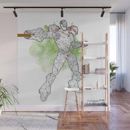 Polyborg white Wall Mural