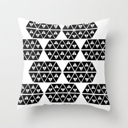Triangular Triangles Throw Pillow