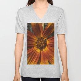 Sunburst Sunflower Unisex V-Neck