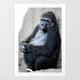 Gorilla Print Art Print