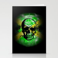jamaica Stationery Cards featuring Jamaica circuit Skull. by seb mcnulty