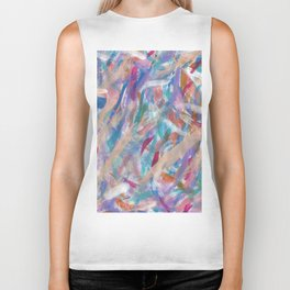 Painterly Color Expression Biker Tank