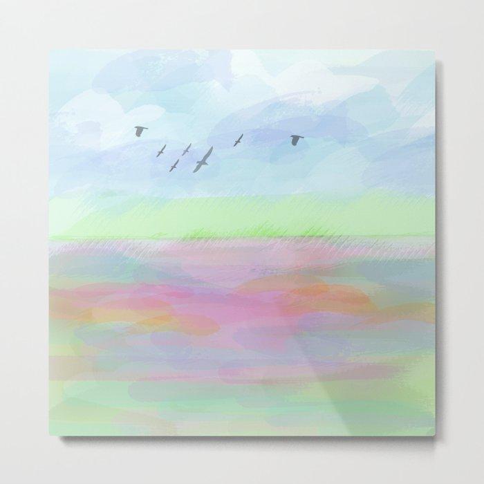 Pastel dreamscape Metal Print