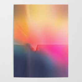 Pink Sunrise Abstract Poster