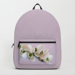 Snowdrops - First Spring Flowers Backpack