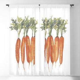 Carrots Watercolor Blackout Curtain