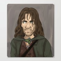aragorn Canvas Prints featuring Aragorn by quietsnooze