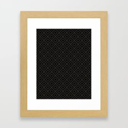 V23 Black Texture Lovely Traditional Pattern. Framed Art Print