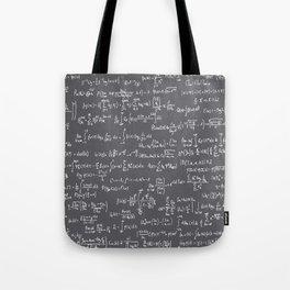 Math Equations // Charcoal Tote Bag