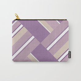Abstraction . Light lilac pink stripe combo pattern . Carry-All Pouch