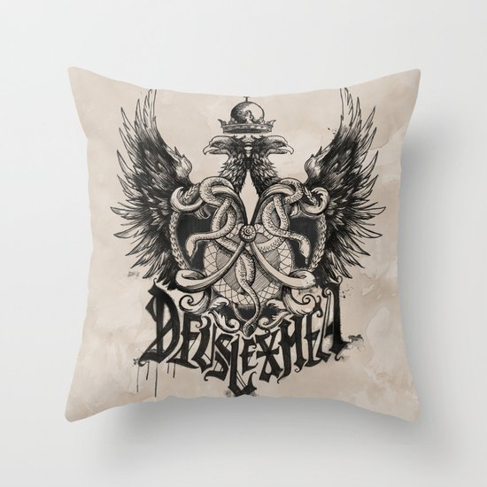 Deus Lex Mea - God is my Light Throw Pillow