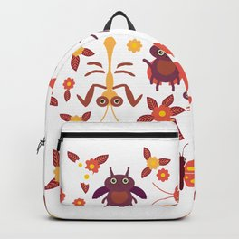 Funny insects Spider butterfly caterpillar dragonfly mantis beetle wasp ladybugs Backpack