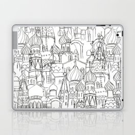 Russian cathedral church line drawing Laptop & iPad Skin