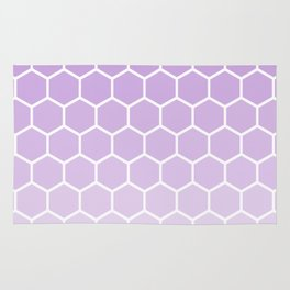 Lavender gradient honey comb pattern Rug