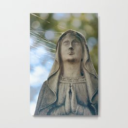 Our Lady of the Spiderwebs Metal Print