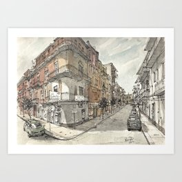 Italy Sketchbook Art Print