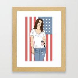 Blue Jeans, White Shirt - Lana Luva Illustration Framed Art Print