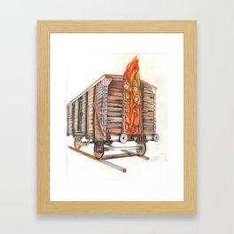 Death Traing Framed Art Print