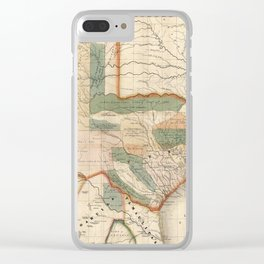 Vintage Map of Texas (1835) Clear iPhone Case