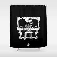piano Shower Curtains featuring Piano by To The Bones