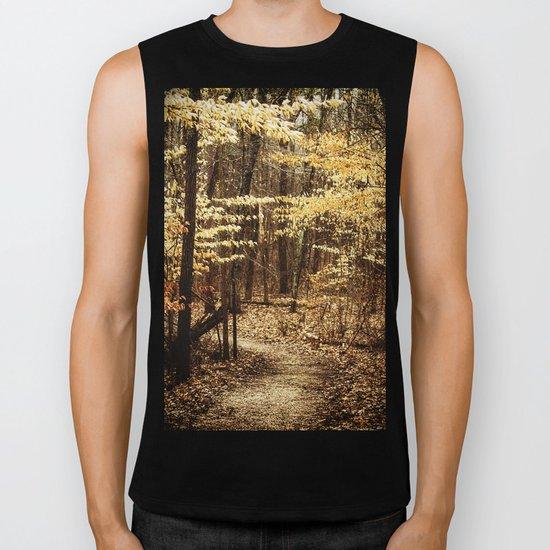 a path in the woods Biker Tank