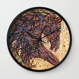 Abstract Horse Digital Ink Pollock Style Wall Clock