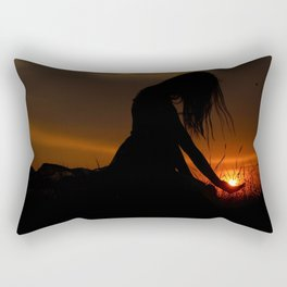 All the World Is Yours Sunset Photograph Rectangular Pillow
