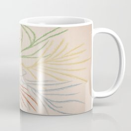 Pastel Coloured Feather Print Coffee Mug