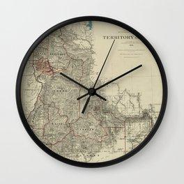 Map of Idaho 1888 Wall Clock