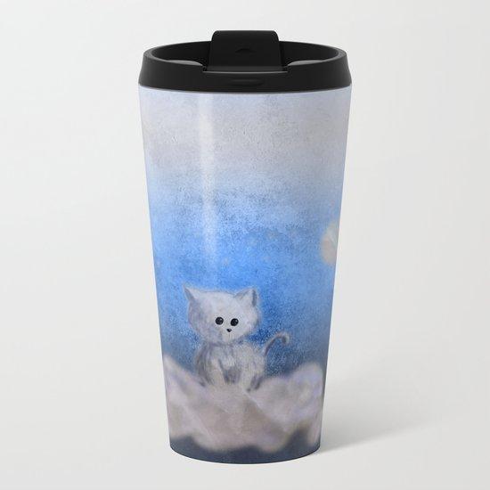 kitten in the sky Metal Travel Mug