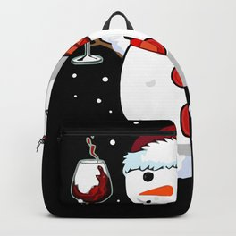 Snowman Wine Christmas Drinking Wine Backpack
