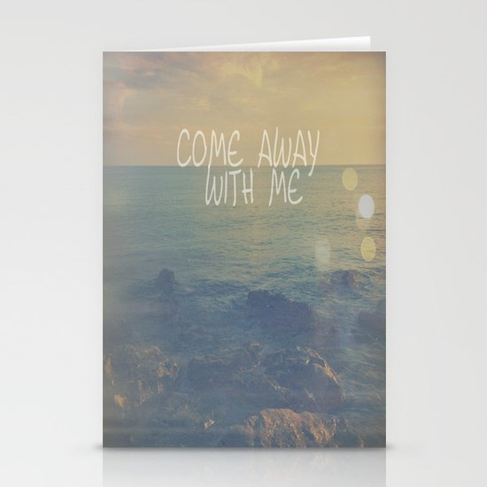 Come Away With Me Stationery Cards