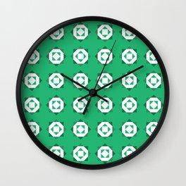 Maroccan Green Stars Wall Clock