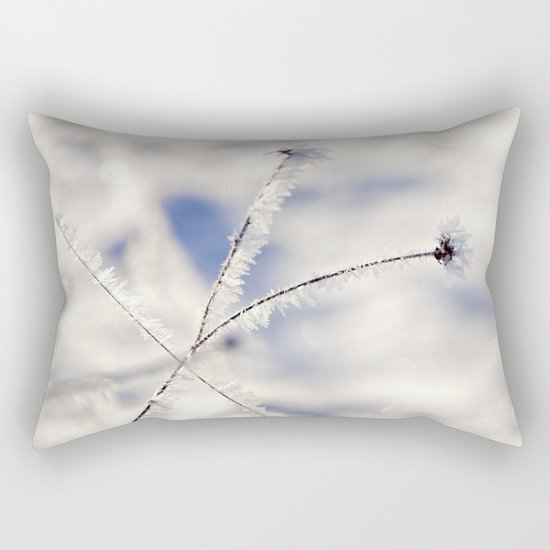 Sparkling hoar frost III Winter Snow Ice Sun Rectangular Pillow