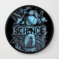 science Wall Clocks featuring Science by Crumblin' Cookie