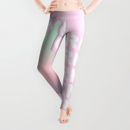 I love Unicorn Gradient Pastel Leggings