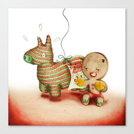 Boxing Biscuit Canvas Print