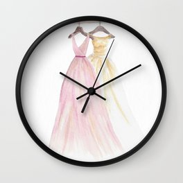 Two Dresses 1 Wall Clock