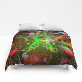 Bioluminescent Plankton and Jellyfish Comforters